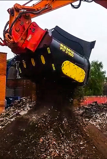 Demolition waste recycling